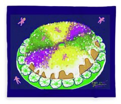 King Cake Fleece Blanket