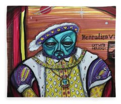 King Henralien Viii Fleece Blanket