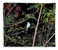 Kingbird At Night Fleece Blanket