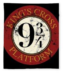 Kings Cross Platform  Fleece Blanket