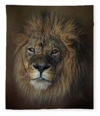 King's Gaze Fleece Blanket
