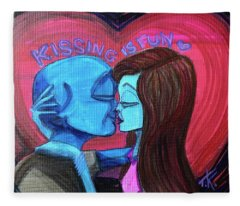 Kissing Is Fun Fleece Blanket