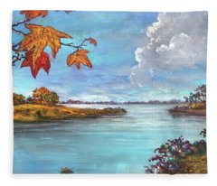 Kites, Clouds And Sailboats Fleece Blanket