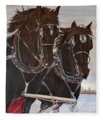Knights On Four Fleece Blanket