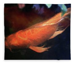 Koi Abstracted Fleece Blanket