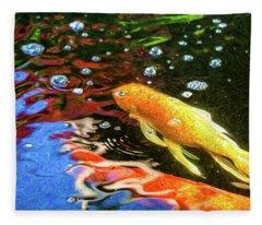 Koi Pond Fish - Glamorous Surprises - By Omaste Witkowski Fleece Blanket