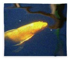 Koi Pond Fish - Golden Desires - By Omaste Witkowski Fleece Blanket