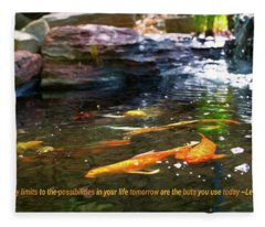 Koi Pond Fish - Limitless Possibilities - By Omaste Witkowski Fleece Blanket