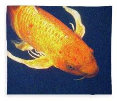 Koi Pond Fish - Liquid Delight - By Omaste Witkowski Fleece Blanket