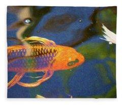 Koi Pond Fish - Picasso's Pets - By Omaste Witkowski Fleece Blanket
