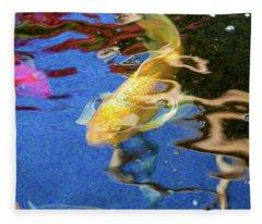 Koi Pond Fish - Playful Energies - By Omaste Witkowski Fleece Blanket