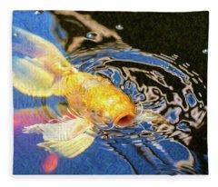 Koi Pond Fish - Pretty Pucker - By Omaste Witkowski Fleece Blanket