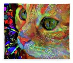 Koko The Orange Cat Fleece Blanket
