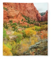 Kolob Canyon 2, Zion National Park Fleece Blanket