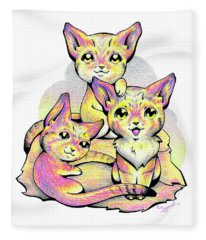 Kolorful Kitties Fleece Blanket
