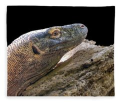Komodo Dragon Fleece Blanket