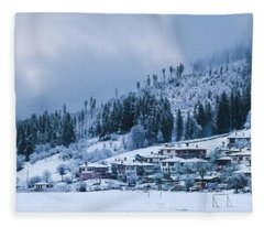 Koprivshtica Winter Panorama Fleece Blanket