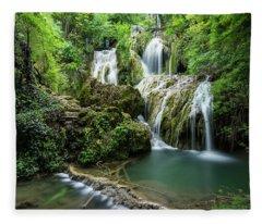 Krushunski Waterfalls Fleece Blanket