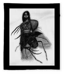 Kuchisake-onna The Slit Mouthed Woman Ghost - Artwork Fleece Blanket