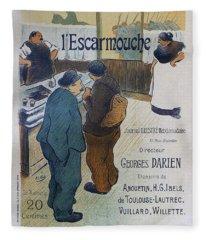 L Escarmouche, 1893 French Vintage Poster Fleece Blanket