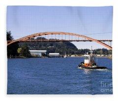 La Conner Rainbow Bridge Fleece Blanket