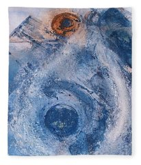 Fleece Blanket featuring the painting  La Donna Del Lago by 'REA' Gallery