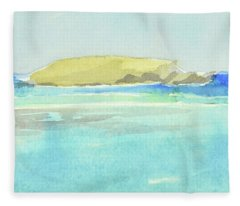 La Tortue, St Barthelemy, 1996_4179 Clean Cropped, 102x58 Cm, 6,86 Mb Fleece Blanket
