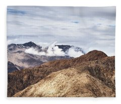 Fleece Blanket featuring the photograph Ladakh Peaks by Whitney Goodey