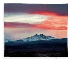 Ladies In The Sky Winter Sunset Fleece Blanket