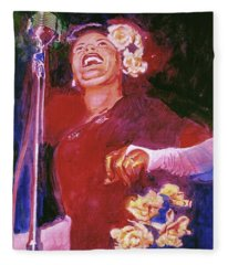 Lady Day - Billie Holliday Fleece Blanket