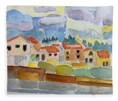 Laguna Del Sol Houses Design  Fleece Blanket