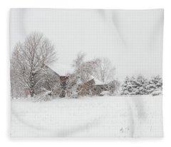 Lake Effect Barn Fleece Blanket