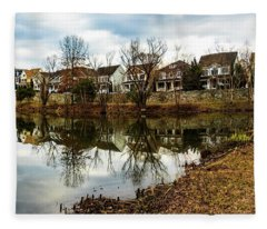 Lake Helene And Booth Street Fleece Blanket