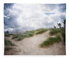 Lake Michigan Sand Dunes Fleece Blanket