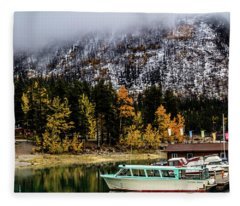 Lake Minnewanka, Banff National Park, Alberta, Canada Fleece Blanket