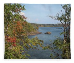 Lake Superior Autumn Fleece Blanket