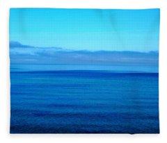 Lake Superior Blue Fleece Blanket