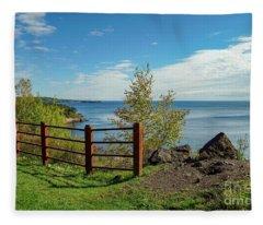 Lake Superior Overlook Fleece Blanket