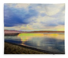Lake Superior Sunset Fleece Blanket