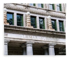 Lamar Building - Augusta Ga Fleece Blanket