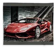 Lamborghini Huracan 2 Fleece Blanket