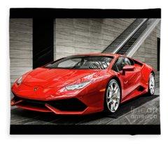 Lamborghini Huracan Fleece Blanket