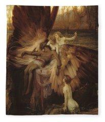 Lament Of Icarus Fleece Blanket