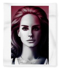 Lana Del Ray Fleece Blanket