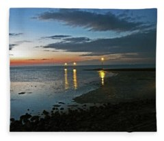 Lancashire. Knott End. Sunset.. Fleece Blanket