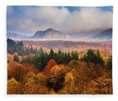 Land Of Illusion Fleece Blanket