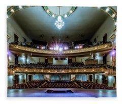 Landers Theatre Stage View Fleece Blanket