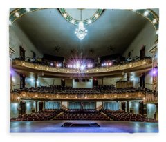 Landers Theatre Stage View Fleece Blanket