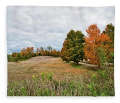 Landscape In The Fall Fleece Blanket