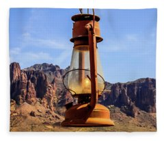 Lantern Over Superstitions Fleece Blanket